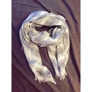 Accessories - Gray Striped Scarf | OS